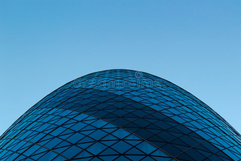 Sir Norman Foster Building The Gherkin Photo de dessous images libres de droits