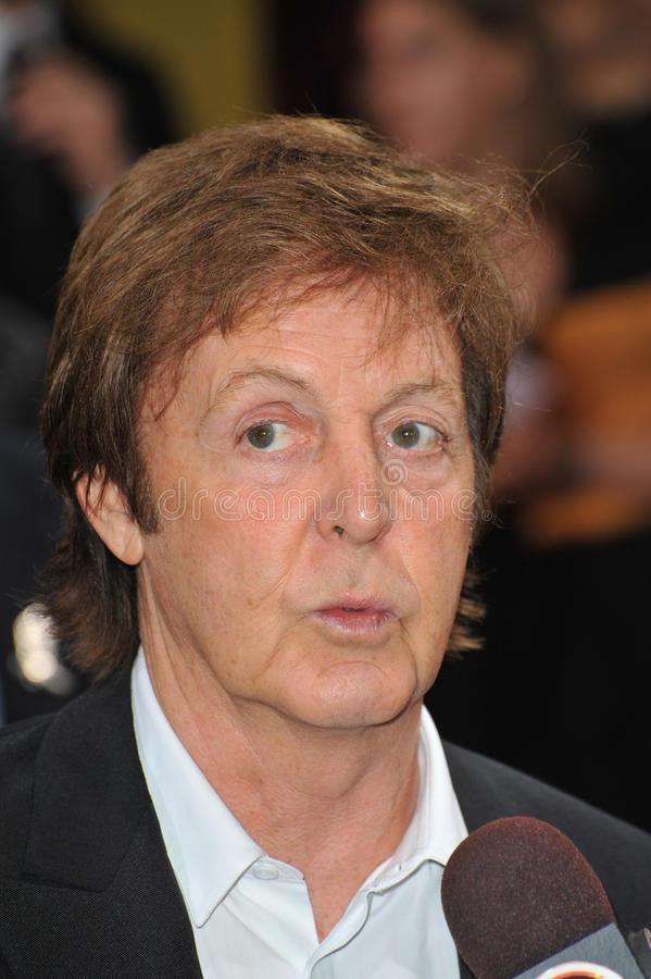 Sir Paul McCartney obrazy royalty free