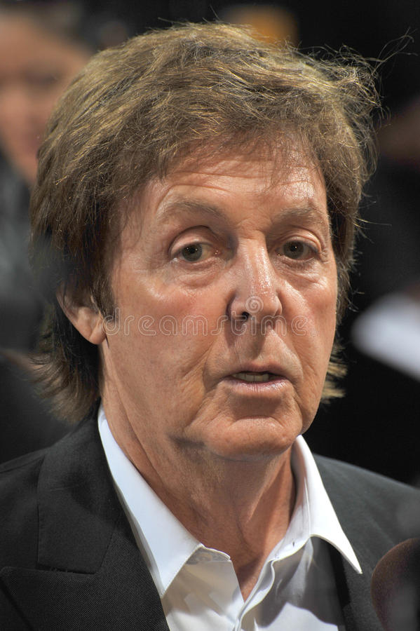 Sir Paul McCartney zdjęcie royalty free