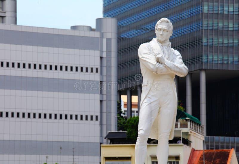 Sir Raffles staty arkivfoton