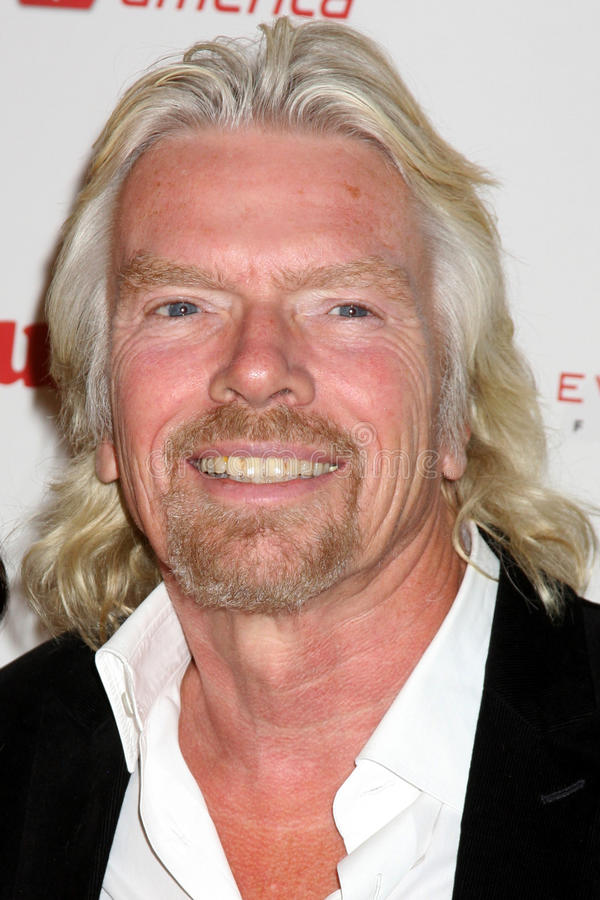 Sir Richard Branson zdjęcia stock