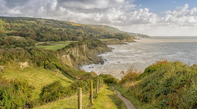 Sir Richard`s Cove, St. Lawrence, Ventnor, Isle of Wight, Englan stock photos