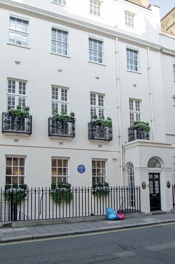 Sir Richard Westmacott Historyczny dom, Mayfair zdjęcie stock