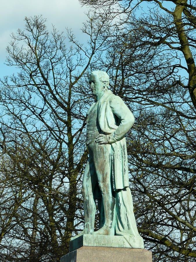 Sir Robert Peel statue stock photo