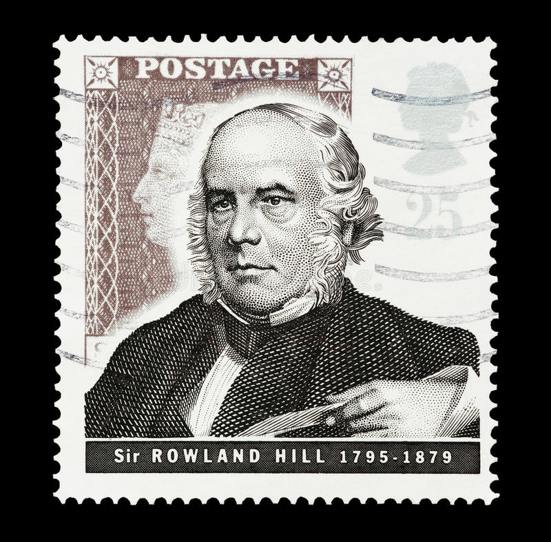 Download Sir Rowland Hill editorial stock image. Image of philately - 18000179