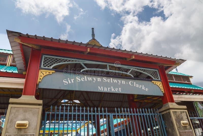 Sir Selwyn Selwyn-Clarke Market Victoria Mahe Seychellen stock afbeeldingen