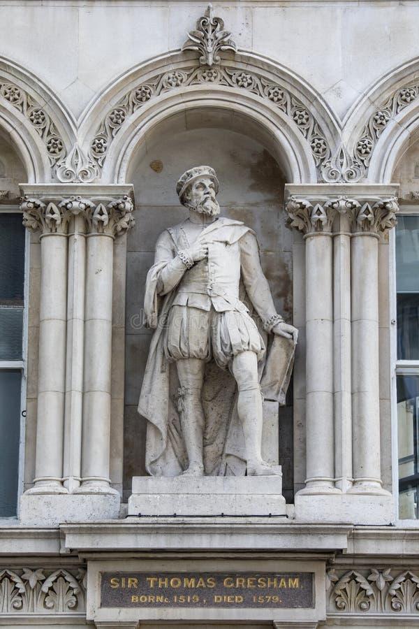 Sir Thomas Gresham Statue à Londres images stock