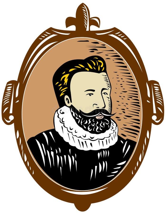 Sir Walter Raleigh illustrazione vettoriale