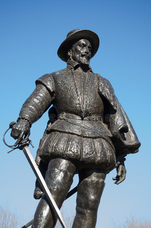Sir Walter Raleigh zabytek, Greenwich obrazy royalty free