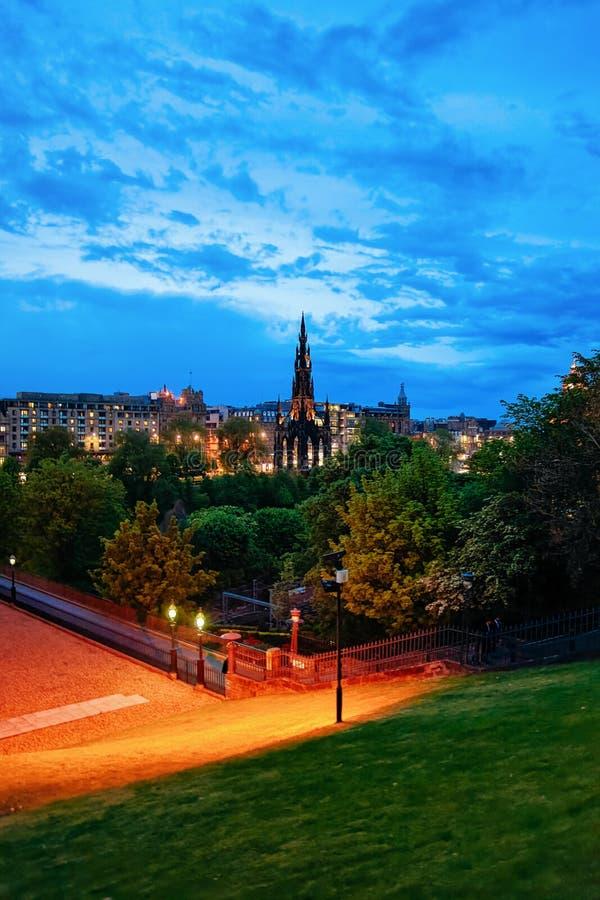 Sir Walter Scott Monument in Edinburgh Scotland night. Sir Walter Scott Monument in Edinburgh in Scotland in the UK at night royalty free stock image