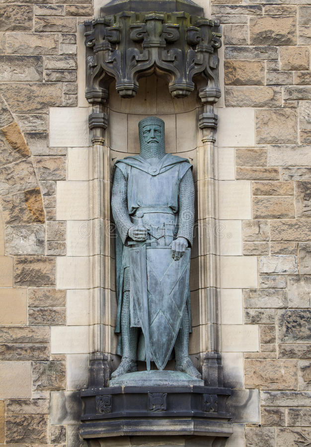 Sir William Wallace Statue på Edinburgslotten arkivfoto