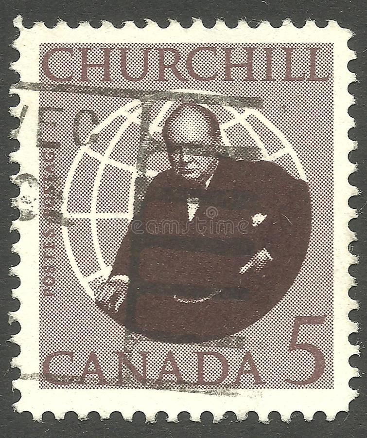 Sir Winston Churchill obraz royalty free
