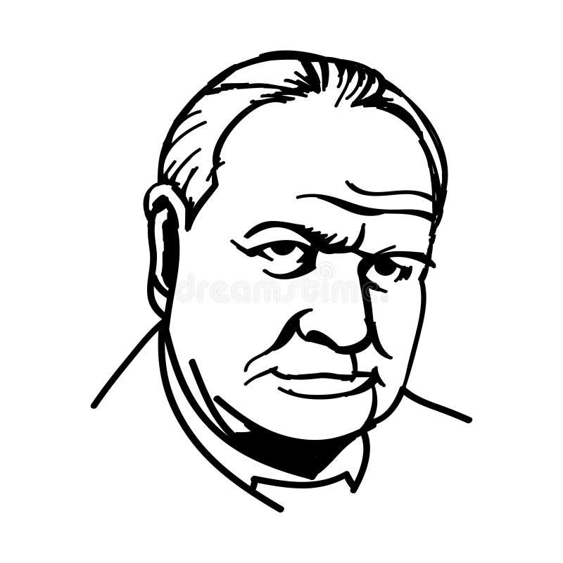 Sir Winston Churchill royaltyfria bilder