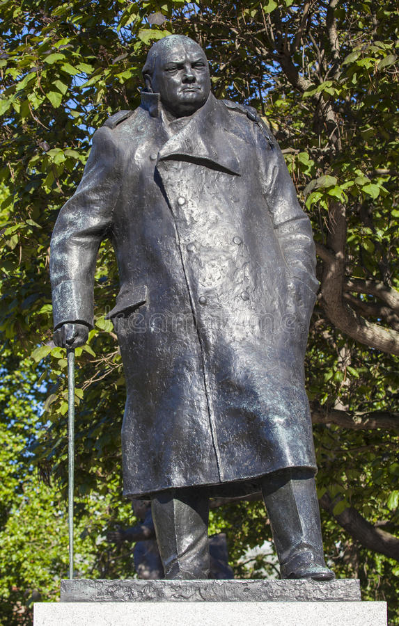 Sir Winston Churchill statua w Londyn zdjęcia royalty free
