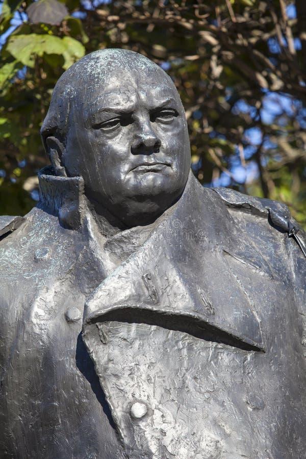 Sir Winston Churchill statua w Londyn obrazy royalty free