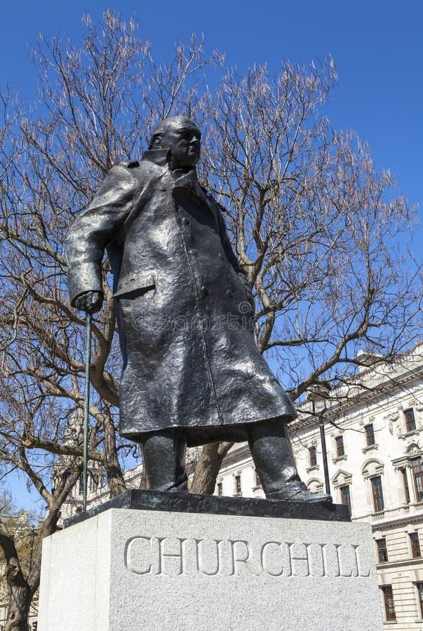 Sir Winston Churchill Statue in Londen royalty-vrije stock fotografie