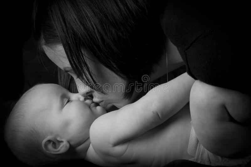 Sira de mãe à filha foto de stock