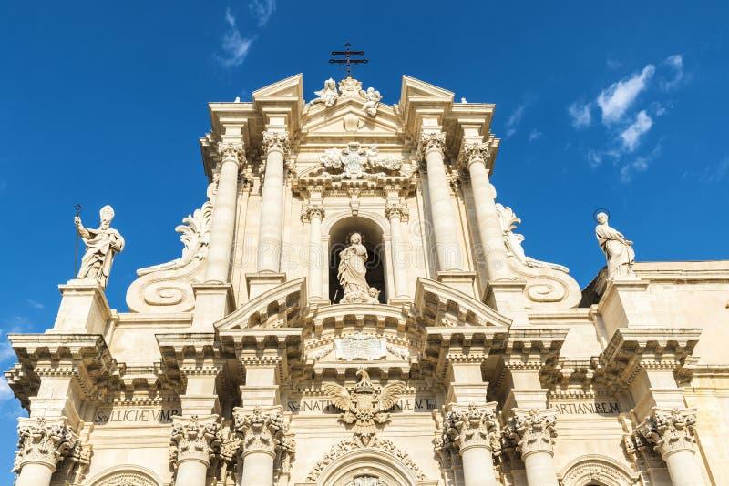 Siracusa大教堂在西西里岛,意大利 库存图片