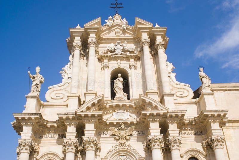 siracusa της Σικελίας καθεδρικών ναών στοκ εικόνες