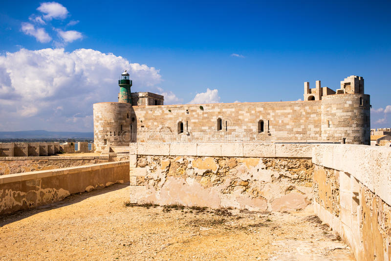 Siracusa castle stock image