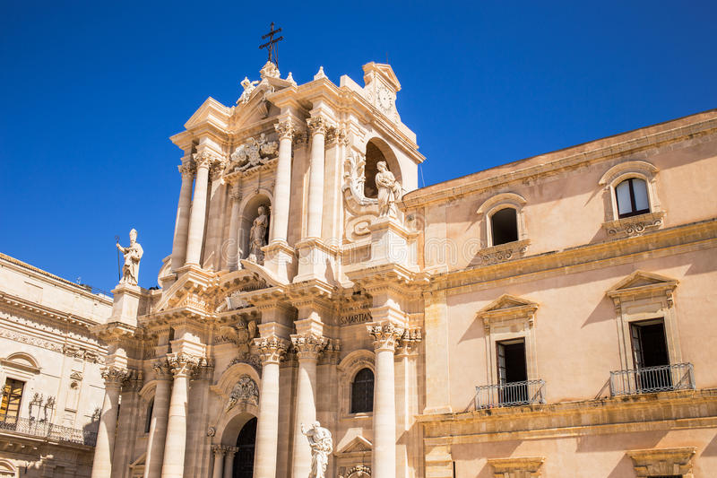 Siracusa cathedral. On sunny day stock image