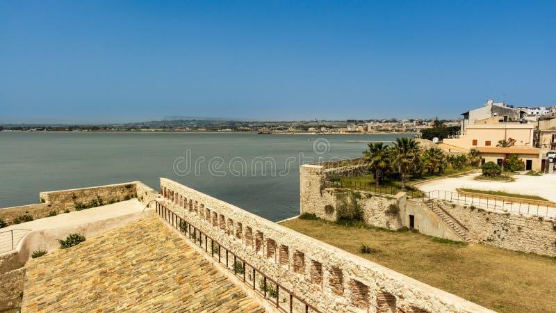 Siracusa em Sicília fotografia de stock