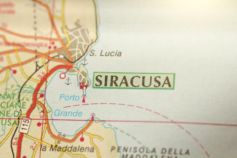 Siracusa A ilha de Sicília, Itália fotos de stock royalty free