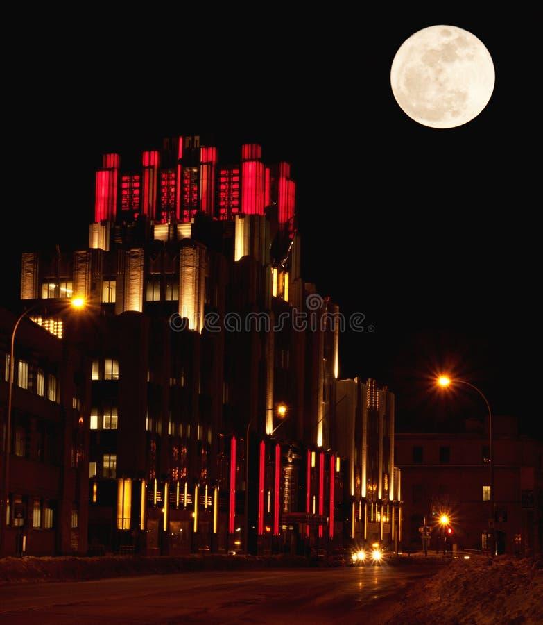 Siracusa, New York na noite fotografia de stock