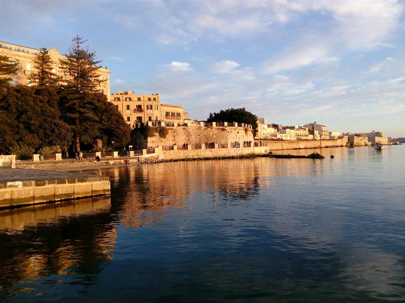 Siracusa Ortigia Italia Sicilia arkivbild