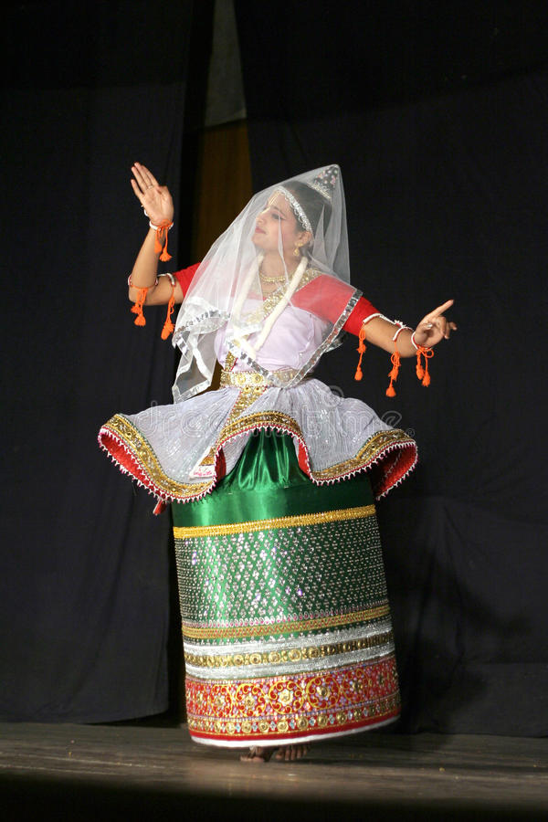 Sircar-Manipuri van Smt.savanabrata dans stock foto's
