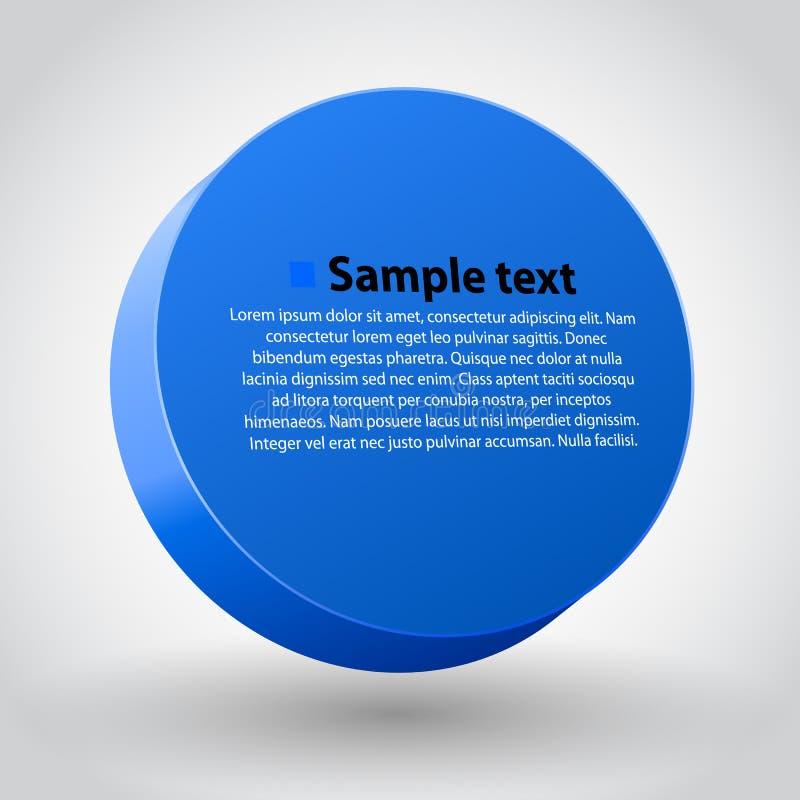 Sircle das dimensões do azul três ilustração do vetor