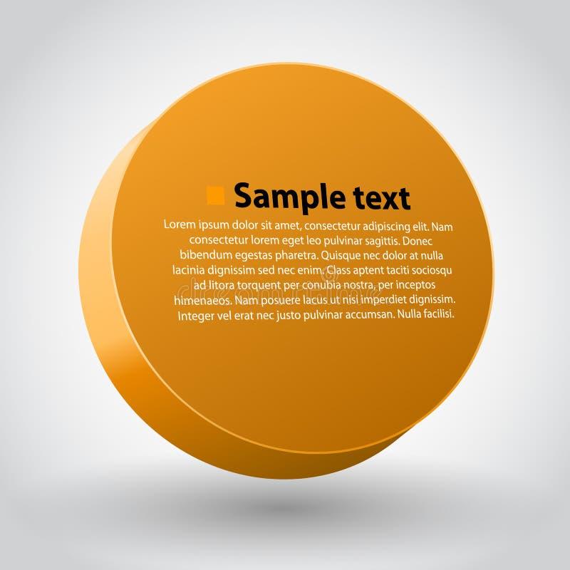 Sircle di dimensioni di giallo tre illustrazione di stock