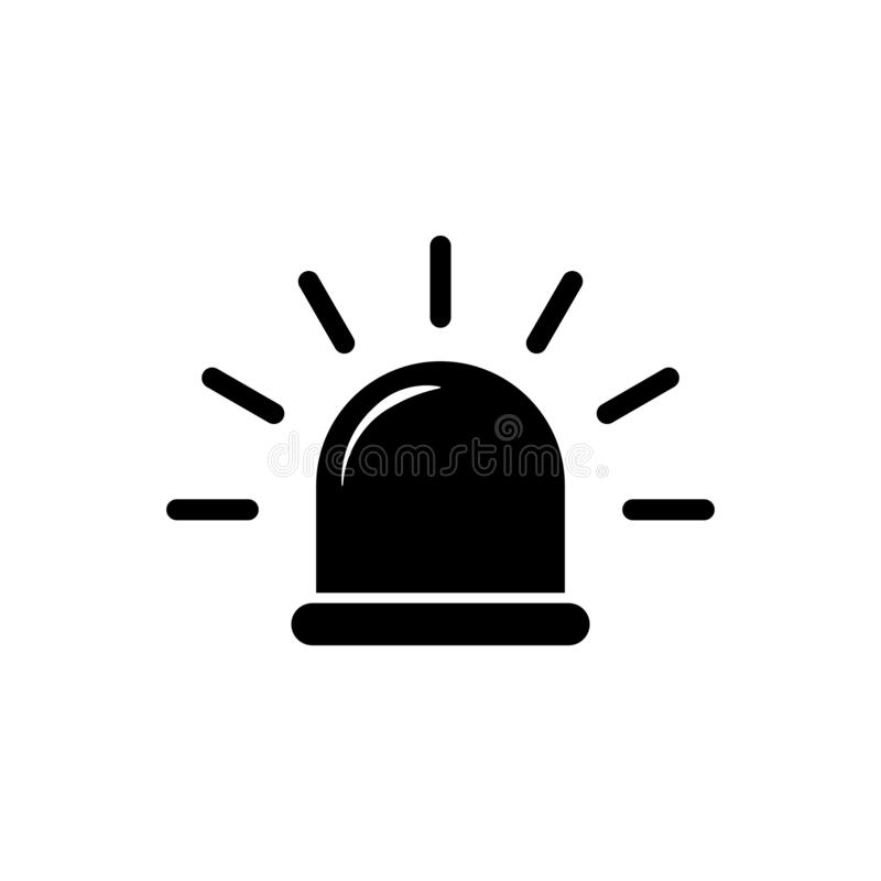 Siren icon vector emergency symbol. Ambulance sign isolate on white background for graphic design, logo, web site, social media,. Mobile app, ui stock illustration