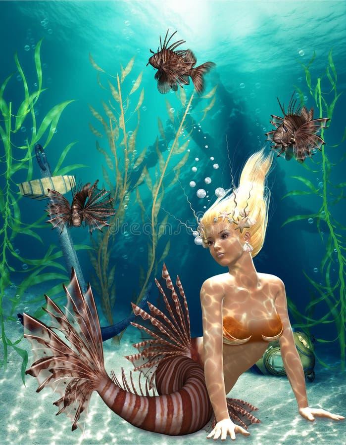 Sirena 2 illustrazione di stock