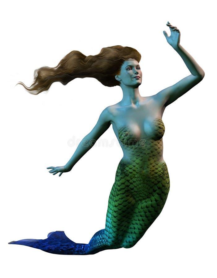 Sirena stock de ilustración