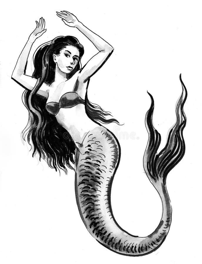 Sirena bella royalty illustrazione gratis