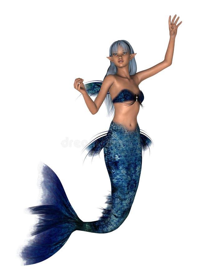 Sirena de la fantasía en blanco libre illustration