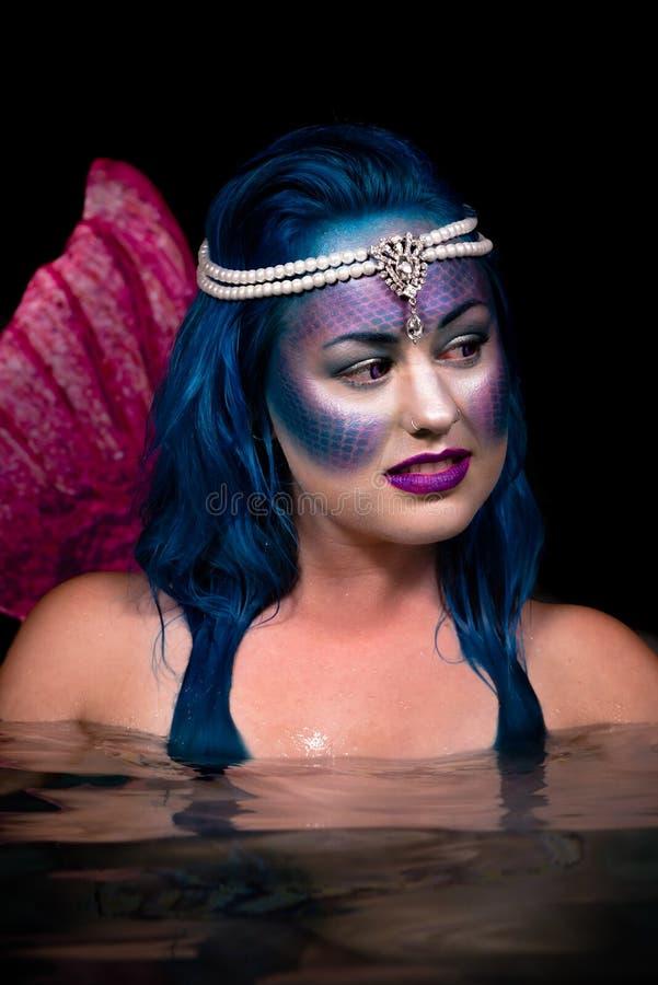 Sirena de la noche fotografía de archivo