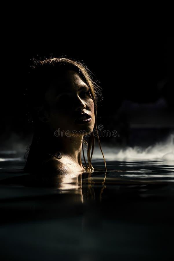 Sirena de la noche imagen de archivo libre de regalías