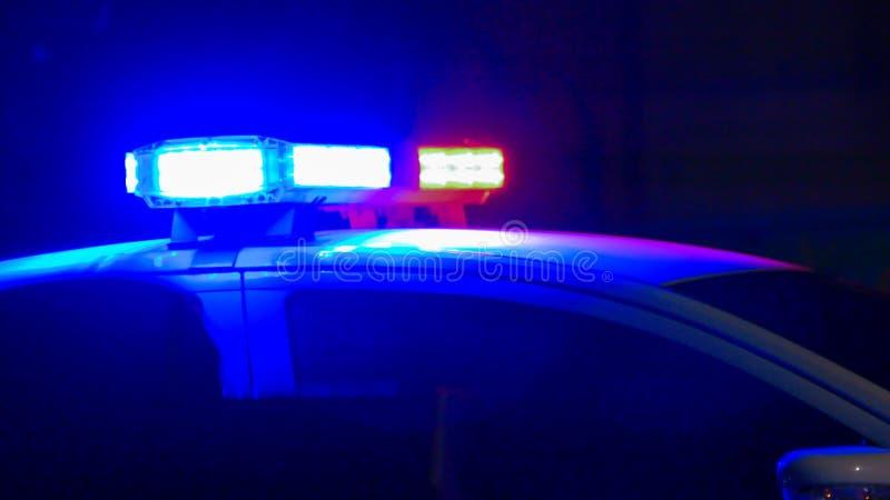 Sirena del coche policía fotos de archivo