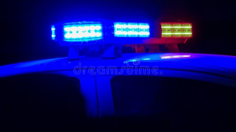 Sirena del coche policía foto de archivo