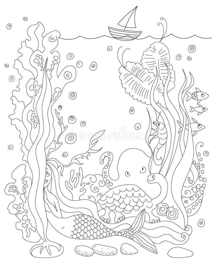 Famoso Pequeñas Sirenas Para Colorear Anguilas Imágenes - Dibujos ...