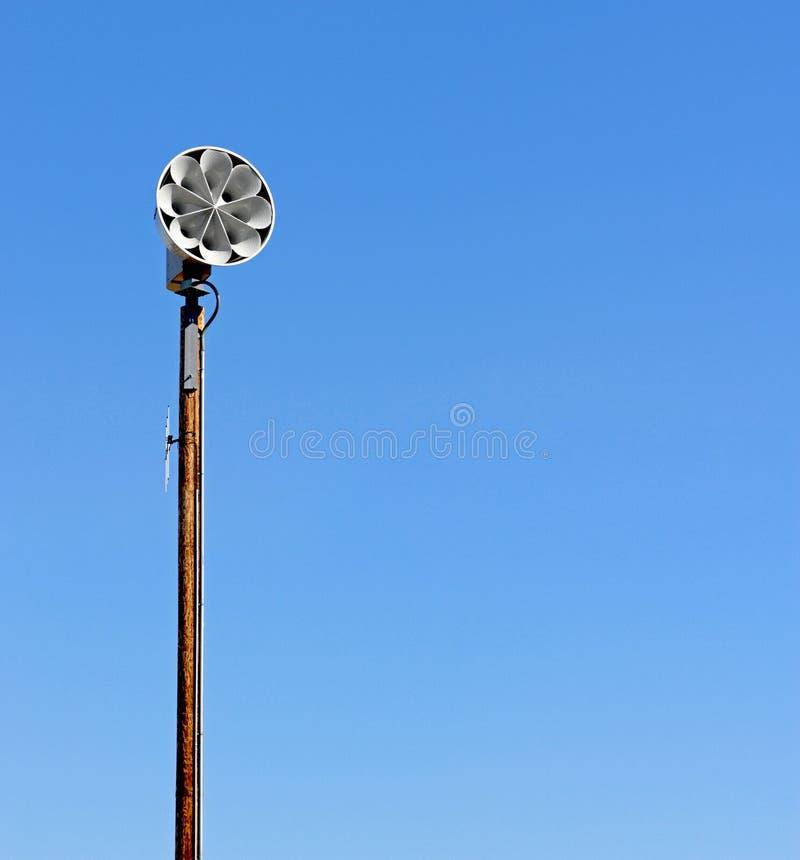 Sirena della difesa civile fotografia stock libera da diritti