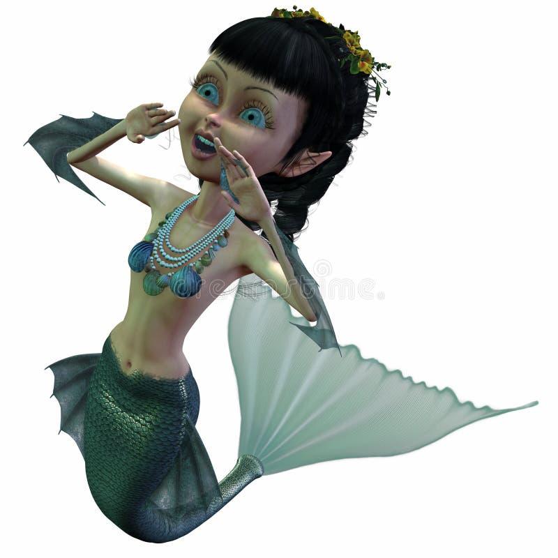 Sirena di fantasia illustrazione vettoriale