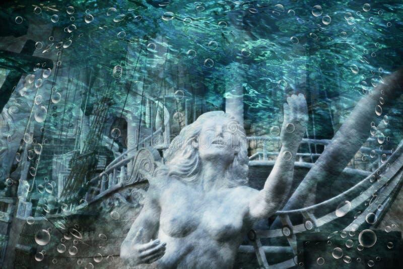 Sirena en submarino imagenes de archivo