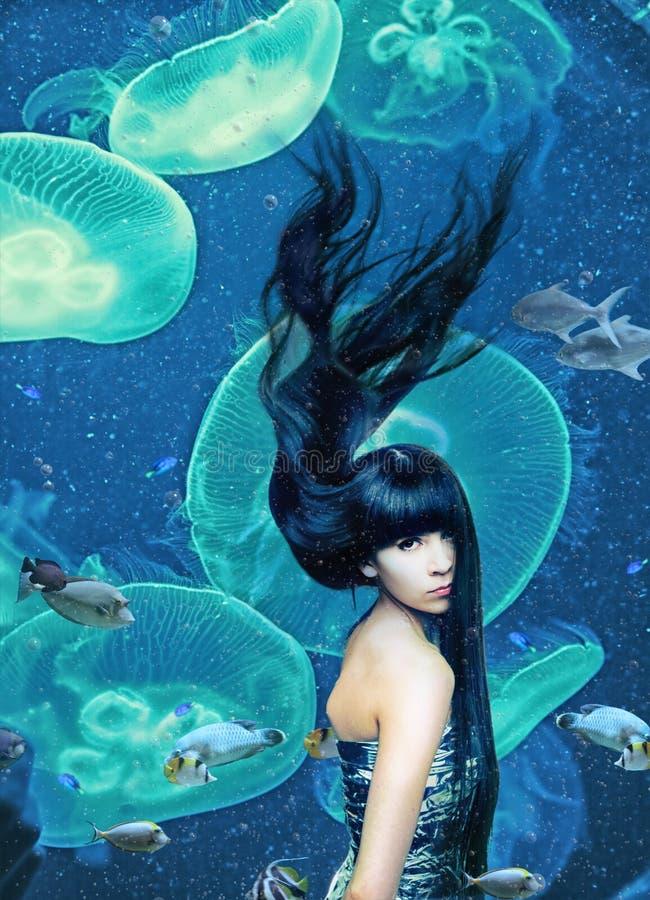 Sirena hermosa imagenes de archivo
