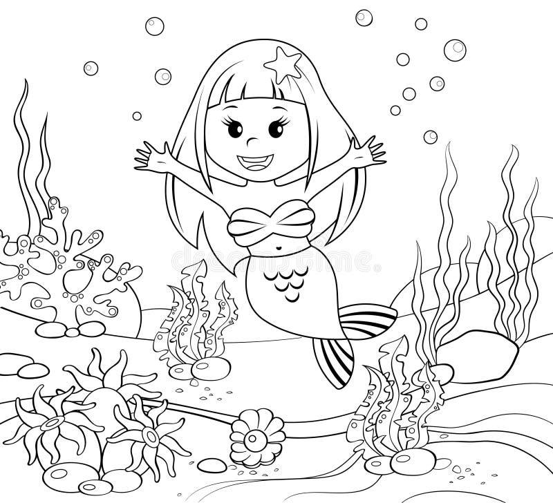 Sirena Mundo subacuático libre illustration