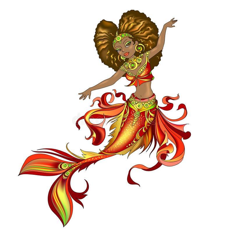 Sirena negra de la princesa libre illustration