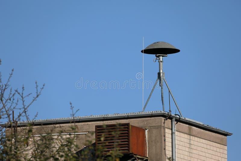 Sirene op het dak voor de brandbrigade stock foto's
