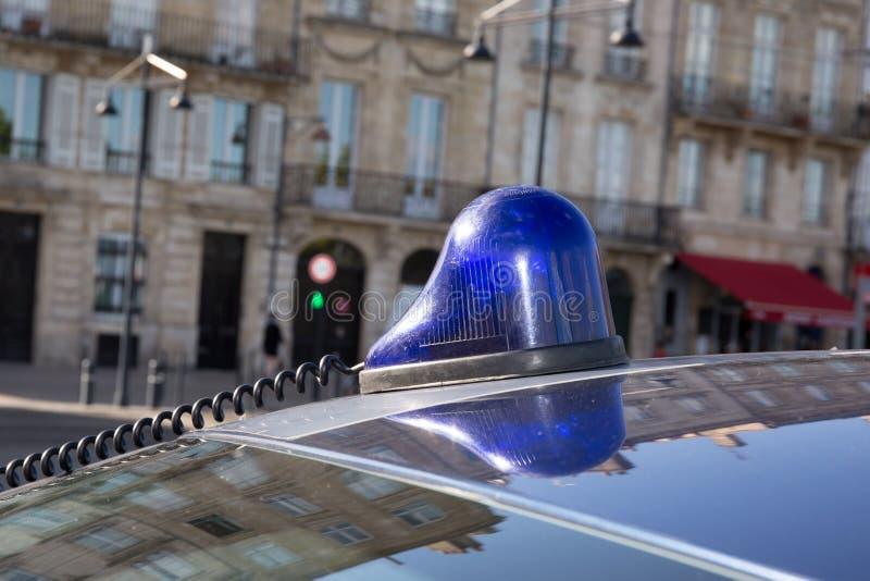 Sirene op Politiewagen in Parijs frankrijk stock fotografie